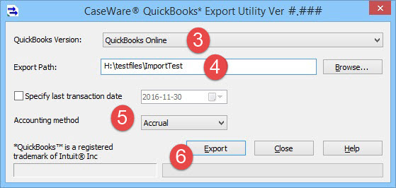 Importing from QuickBooks Online