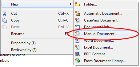 creating manual documents