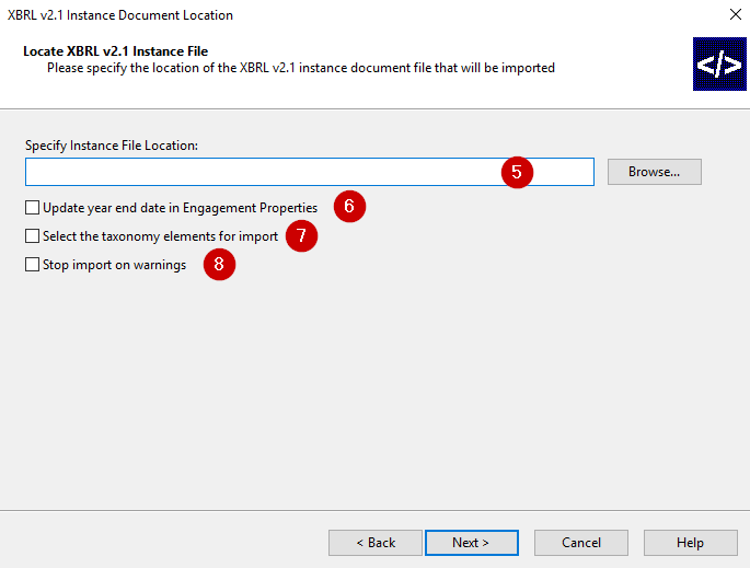 Importing XBRL Instance Documents
